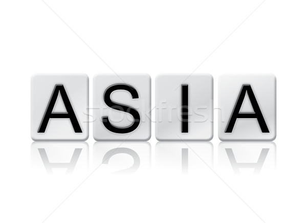 Asia isoliert gefliesten Briefe Wort geschrieben Stock foto © enterlinedesign