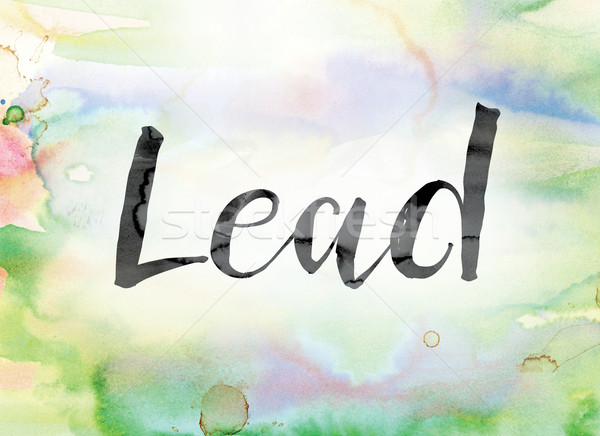 Lead Colorful Watercolor and Ink Word Art Stock photo © enterlinedesign
