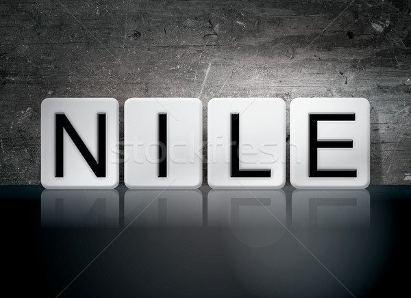 Nile Tiled Letters Concept and Theme Stock photo © enterlinedesign