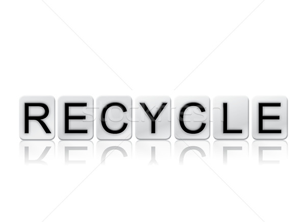 Recycle Isolated Tiled Letters Concept and Theme Stock photo © enterlinedesign