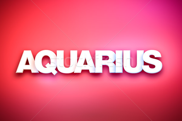 Aquarius Theme Word Art on Colorful Background Stock photo © enterlinedesign