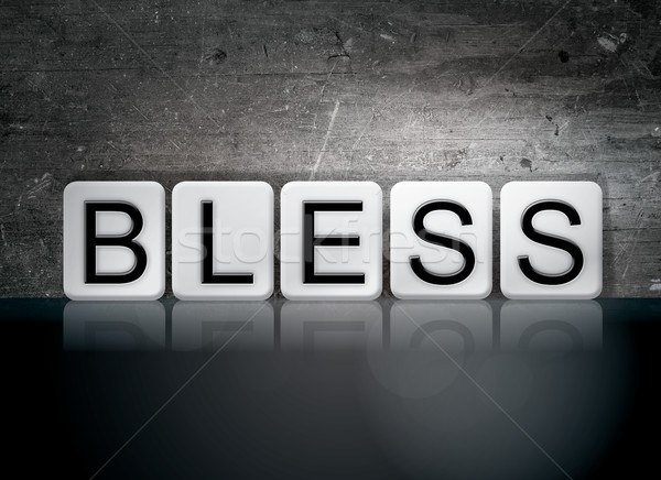 Bless Concept Tiled Word Stock photo © enterlinedesign