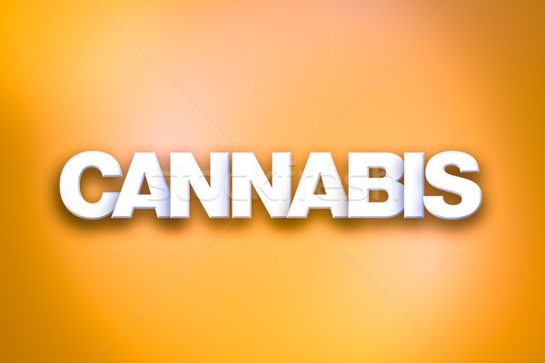 Cannabis Theme Word Art on Colorful Background Stock photo © enterlinedesign