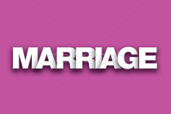 Marriage Theme Word Art on Colorful Background Stock photo © enterlinedesign