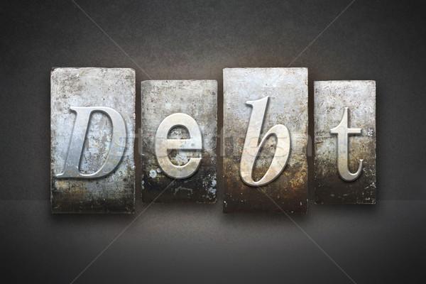 Dívida palavra escrito vintage tipo Foto stock © enterlinedesign