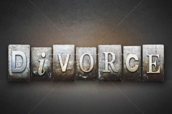 Divorcio palabra escrito vintage tipo Foto stock © enterlinedesign