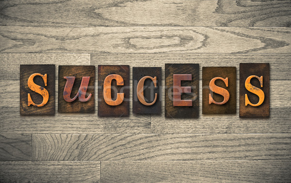 Success Wooden Letterpress Theme Stock photo © enterlinedesign