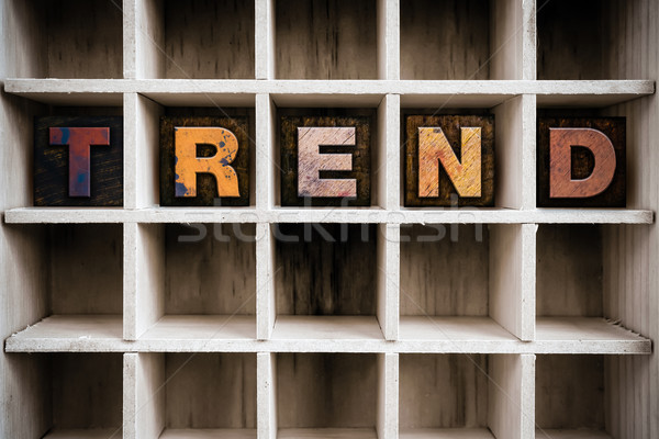 Tendência tipo gaveta palavra Foto stock © enterlinedesign
