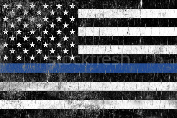 Law Enforcement Police Support Flag Stock photo © enterlinedesign