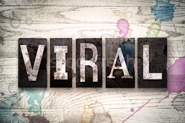 Viral metal tipo palavra escrito Foto stock © enterlinedesign
