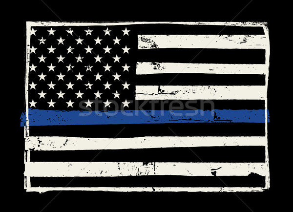 Police Support Flag Illustration Stock photo © enterlinedesign