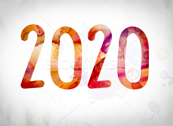 2020 Concept Watercolor Word Art Stock photo © enterlinedesign