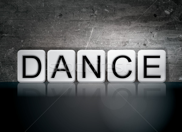 Dance Tiled Letters Concept and Theme Stock photo © enterlinedesign