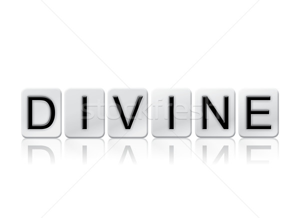 Divine Isolated Tiled Letters Concept and Theme Stock photo © enterlinedesign