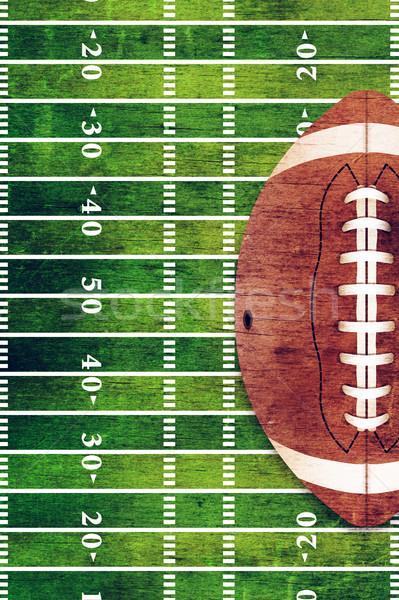 ストックフォト: アメリカン · フットボールの競技場 · グランジ · レトロな · ボール · 実例