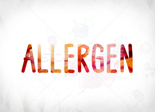 Allergen Concept Painted Watercolor Word Art Stock photo © enterlinedesign