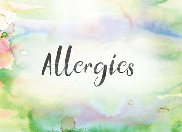 Allergies Concept Watercolor and Ink Painting Stock photo © enterlinedesign
