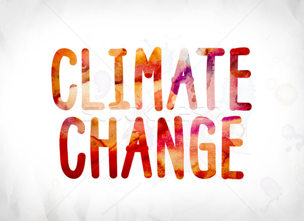 Climate Change Concept Painted Watercolor Word Art Stock photo © enterlinedesign
