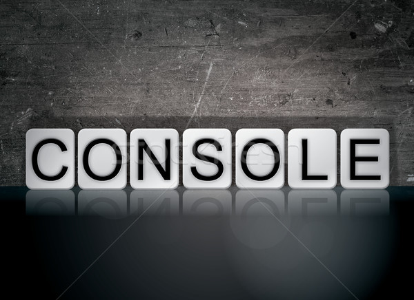 Console Concept Tiled Word Stock photo © enterlinedesign