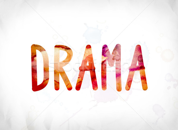Drama Concept Painted Watercolor Word Art Stock photo © enterlinedesign
