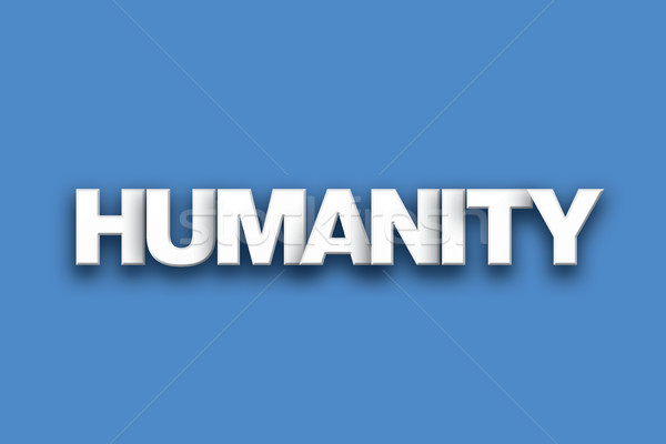 Humanity Theme Word Art on Colorful Background Stock photo © enterlinedesign