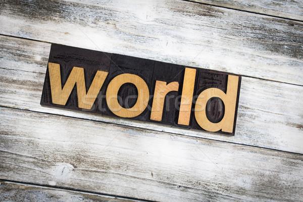 Mundo palavra escrito tipo Foto stock © enterlinedesign