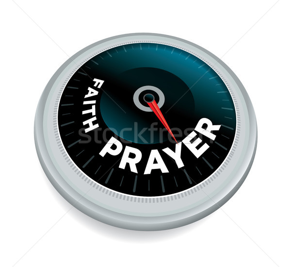 Faith and Prayer Meter Concept Illustration Stock photo © enterlinedesign