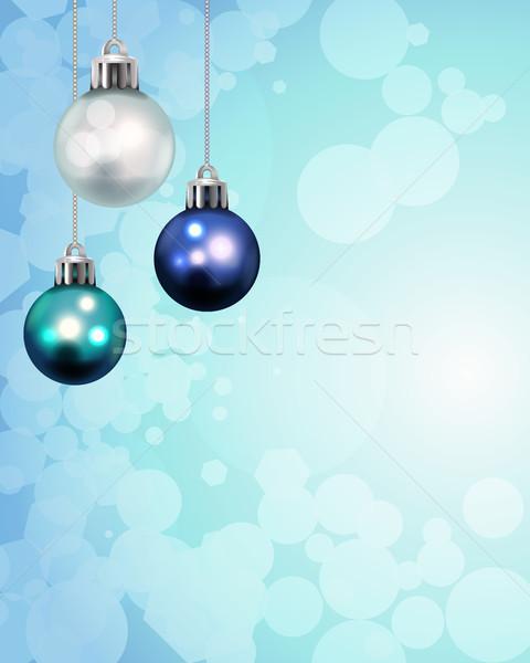 Natal férias modelo ilustração abstrato Foto stock © enterlinedesign