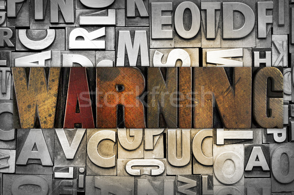 Warning Stock photo © enterlinedesign