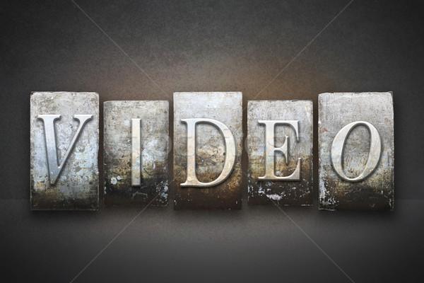 Stok fotoğraf: Video · kelime · yazılı · bağbozumu · tip