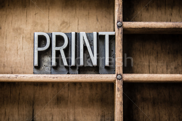 Print Letterpress Type in Drawer Stock photo © enterlinedesign