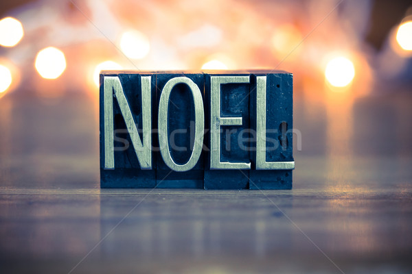 Noel Concept Metal Letterpress Type Stock photo © enterlinedesign