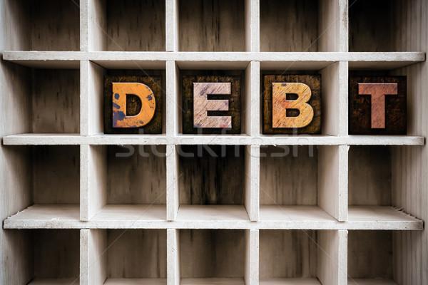 Dívida tipo desenhar palavra Foto stock © enterlinedesign