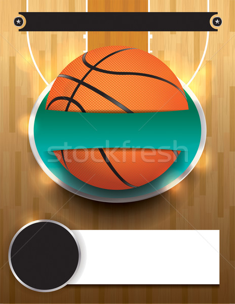Vector basketbal toernooi sjabloon illustratie bestand Stockfoto © enterlinedesign
