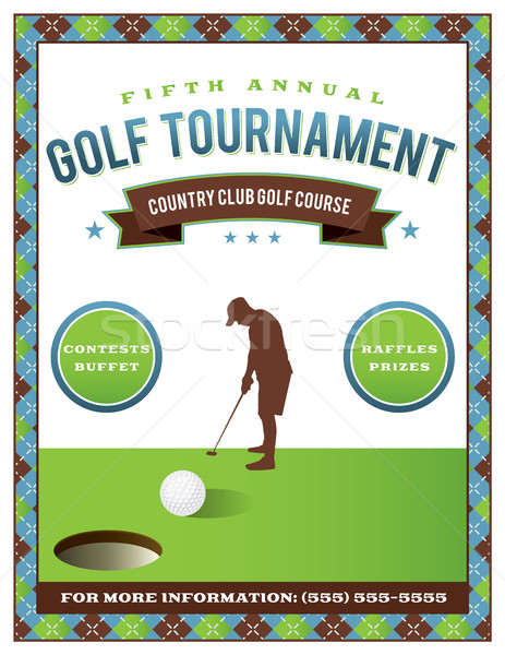 Golf Tournament Flyer Template Stock photo © enterlinedesign