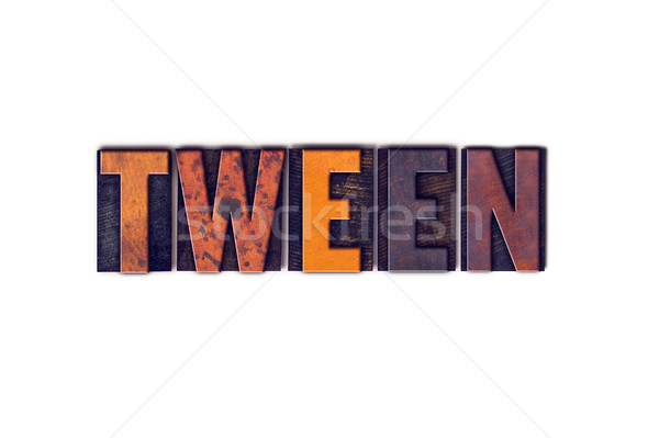 Tween Concept Isolated Letterpress Type Stock photo © enterlinedesign