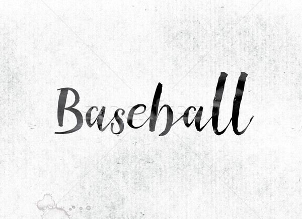 Baseball Concept Painted in Ink Stock photo © enterlinedesign