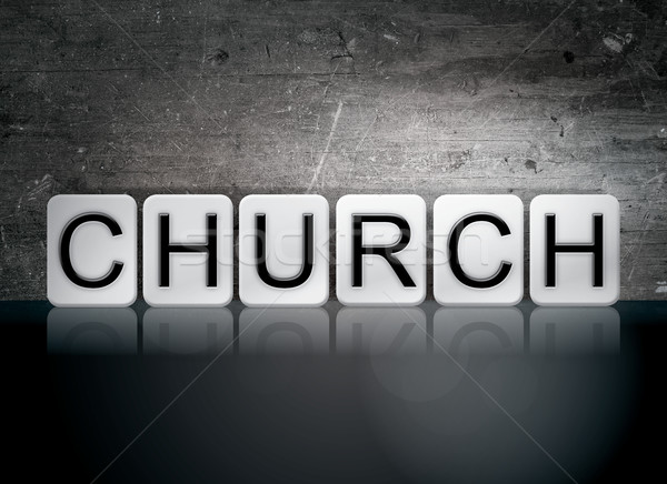 Church Tiled Letters Concept and Theme Stock photo © enterlinedesign
