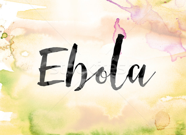 Ebola Colorful Watercolor and Ink Word Art Stock photo © enterlinedesign