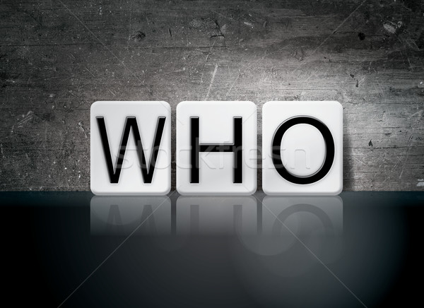 Who Tiled Letters Concept and Theme Stock photo © enterlinedesign