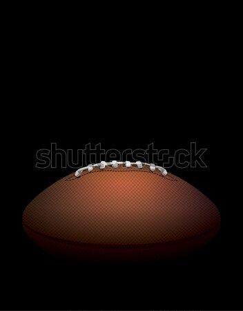 American Football Ball on a Dark Shadow Background Illustration Stock photo © enterlinedesign