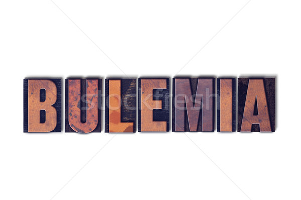 Bulemia Concept Isolated Letterpress Word Stock photo © enterlinedesign