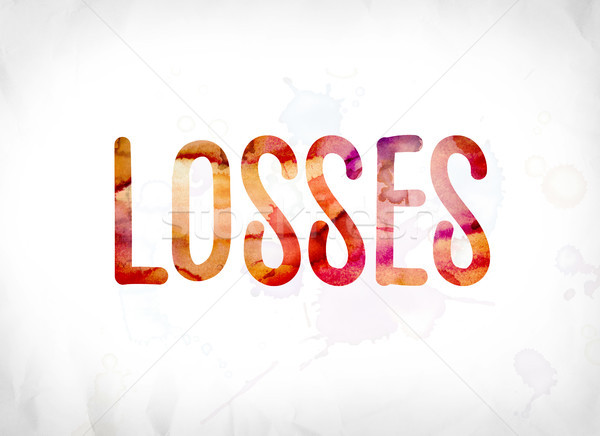 Losses Concept Painted Watercolor Word Art Stock photo © enterlinedesign