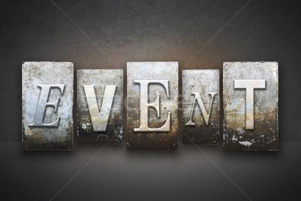 Event Letterpress Stock photo © enterlinedesign