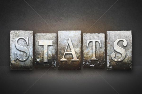 Stats Letterpress Stock photo © enterlinedesign