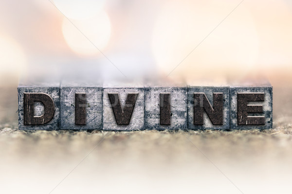 Divine Concept Vintage Letterpress Type Stock photo © enterlinedesign