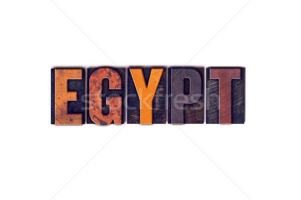 ストックフォト: エジプト · 孤立した · タイプ · 言葉 · 書かれた