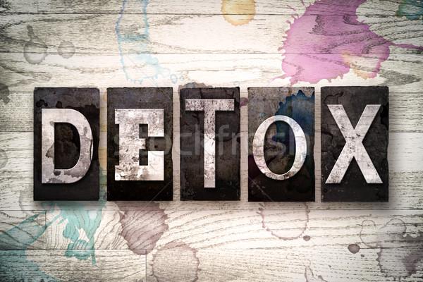 Detoxikáló fém magasnyomás szó írott Stock fotó © enterlinedesign