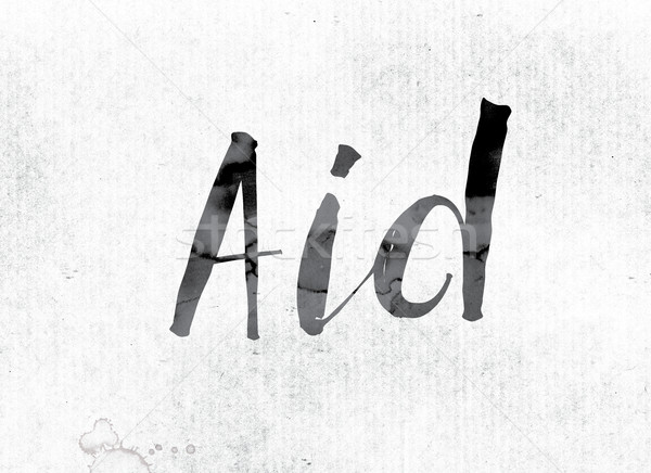 Aid Concept Painted in Ink Stock photo © enterlinedesign