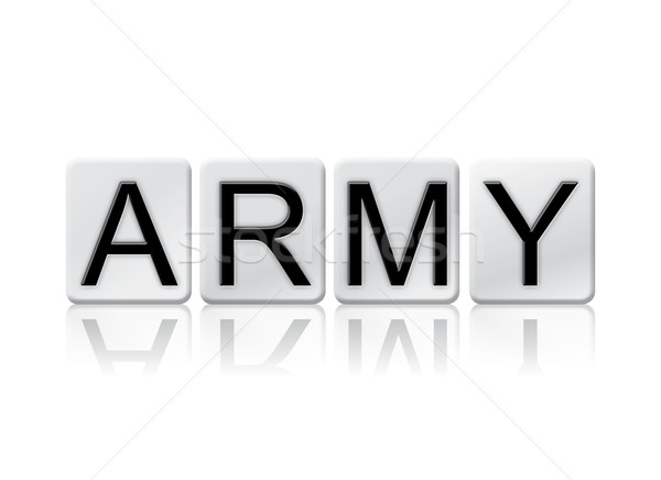 Army Isolated Tiled Letters Concept and Theme Stock photo © enterlinedesign